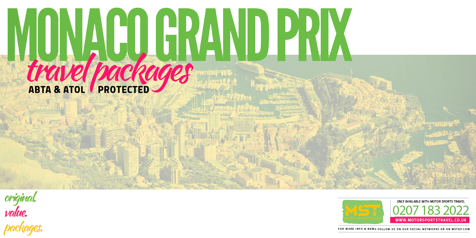 2020 Formula 1 Monaco Grand Prix travel packages | Motor Sports Travel